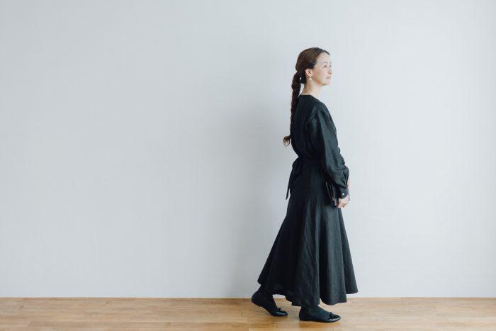 RAMIE HIGH WAIST FLARE DRESS black 6