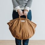 GARMENT DYE MARCHE BAG brown