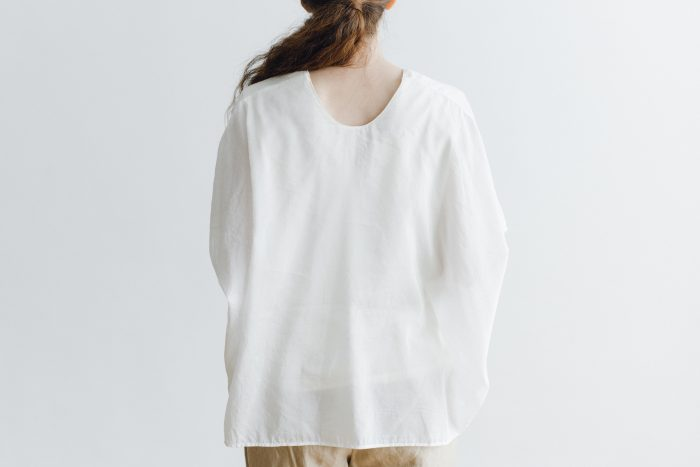 COTTON SILK LAYERED PULLOVER white 4