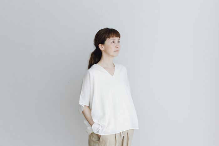 COTTON SILK LAYERED PULLOVER white 1