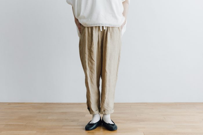 LINEN GARCON PANTS light beige 1