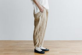 LINEN GARCON PANTS light beige 2