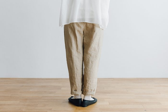 LINEN GARCON PANTS light beige 3
