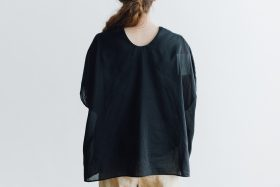 COTTON SILK LAYERED PULL OVER black 4