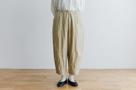 予約 cotton nylon short charlie pants chino beige 1