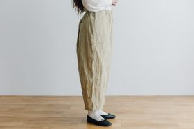 予約 cotton nylon short charlie pants chino beige 2