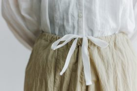 予約 cotton nylon short charlie pants chino beige 4