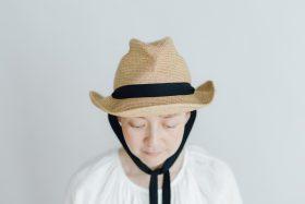 BOXED HAT 7㎝ brim  mixbrown×black 2