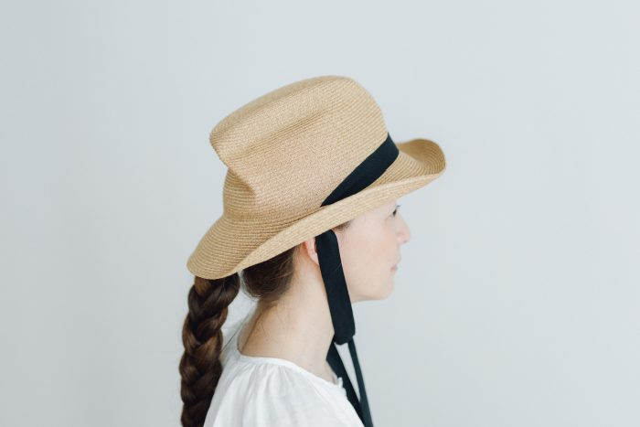 BOXED HAT 7㎝ brim  mixbrown×black 1