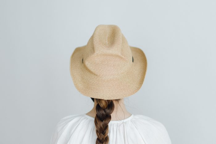 BOXED HAT 7㎝ brim  mixbrown×black 3