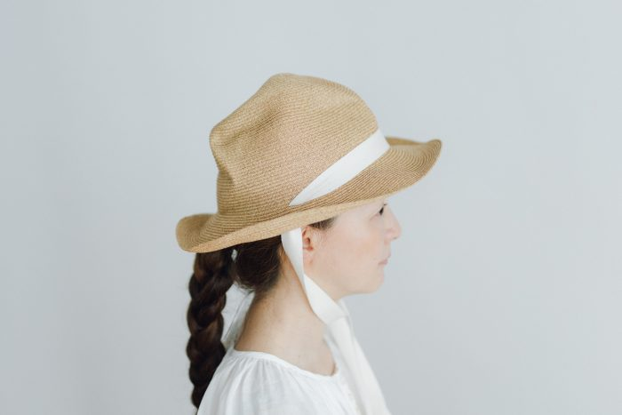 BOXED HAT 7㎝ brim  mixbrown×natural 1