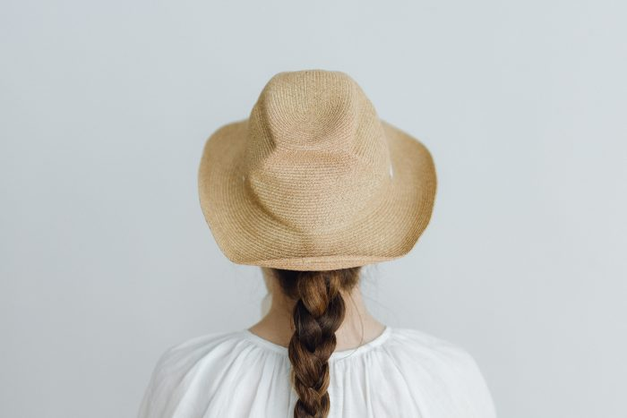BOXED HAT 7㎝ brim  mixbrown×natural 3