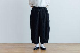 LINEN SHORT CHALIE PANTS black 1