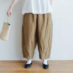 予約 LINEN SHORT CHALIE PANTS beige