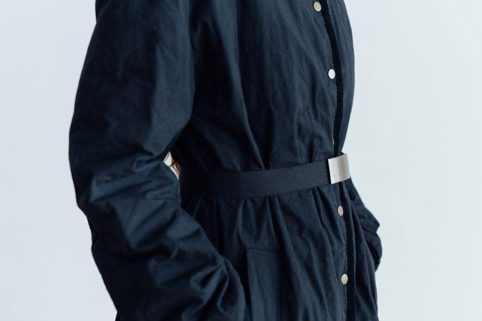 Ecru et pousse 限定  QUILTING LONG COAT black 5