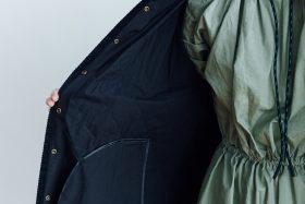 Ecru et pousse 限定  QUILTING LONG COAT black 6