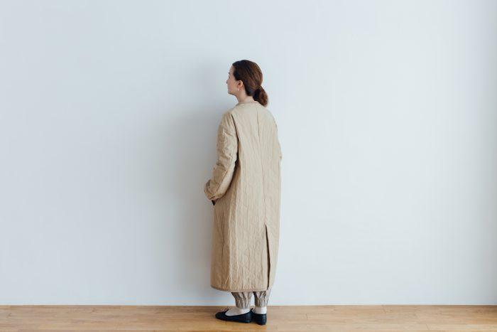 10周年特別アイテム QUILTING LONG COAT beige 6