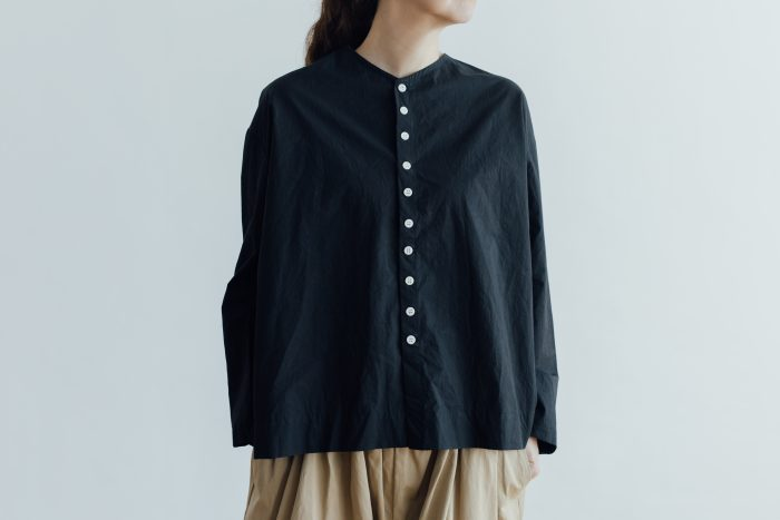 FAKE BUTTON SHIRT BLOUSE black 1