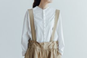 NEW SHOULDER STRAP WIDE CULOTTES dark beige 4
