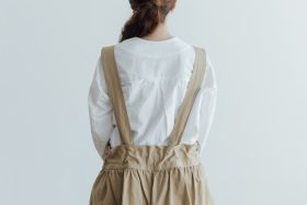 NEW SHOULDER STRAP WIDE CULOTTES dark beige 5