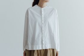FAKE BUTTON SHIRT BLOUSE milk 1