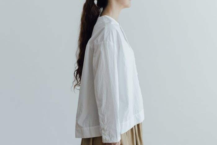 FAKE BUTTON SHIRT BLOUSE milk 2