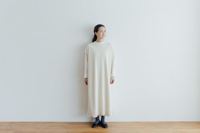 予約 TASMANIA LAMB WOOL LONG KNIT VEST milk 1