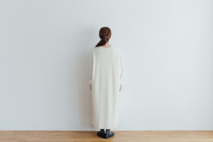 予約 TASMANIA LAMB WOOL LONG KNIT VEST milk 3