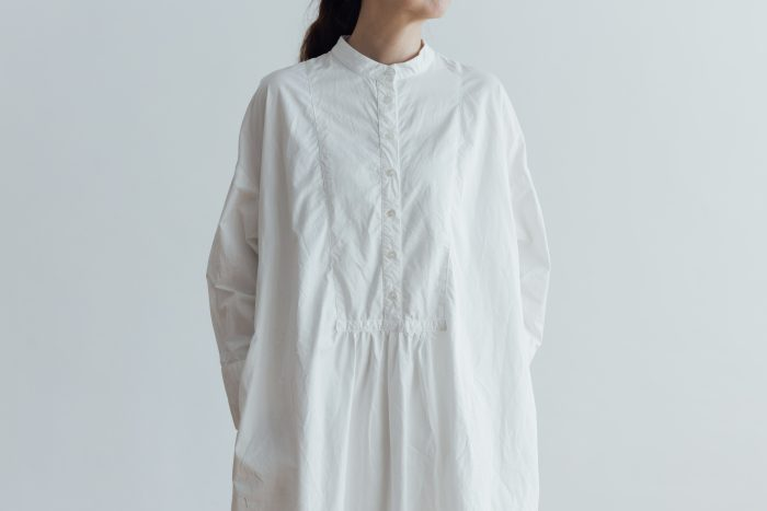 CLASSICAL SHIRTS ONE PIECE  white 5