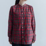 C/S TARTAN CHECK BAND COLLAR SHIRT