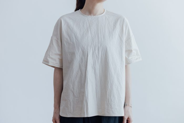 GARMENT DYE PULL OVER BLOUSE ivory 1