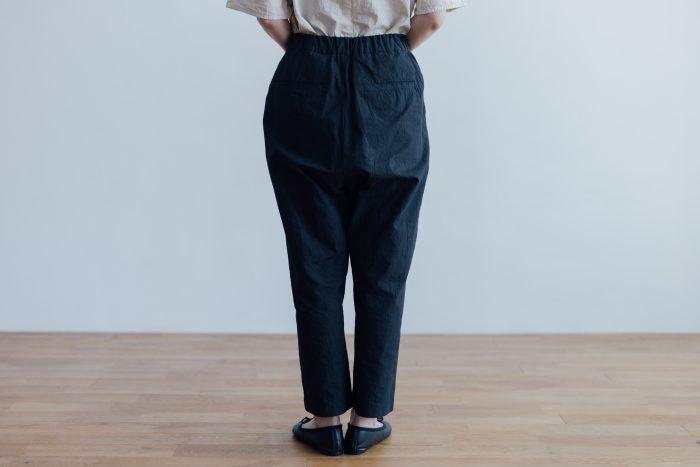 GARMENT DYE SAROUEL TAPERD GOM PANTS ink black 3