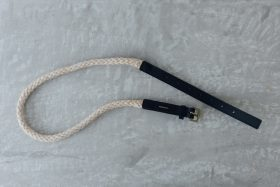 COW LEATHER ROPE BELT black 2