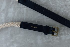 COW LEATHER ROPE BELT black 3