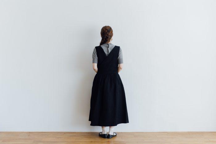 MATELASSE CROSS OVER DRESS black 5