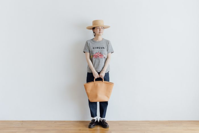 COW LEATHER MARCHE BAG 3