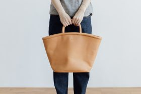 COW LEATHER MARCHE BAG 1