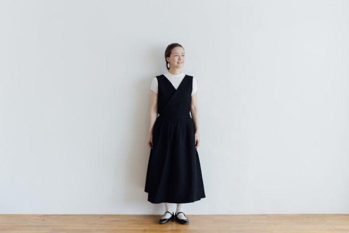 MATELASSE CROSS OVER DRESS black 1