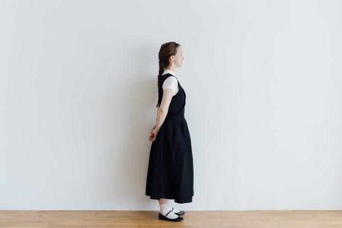 MATELASSE CROSS OVER DRESS black 2