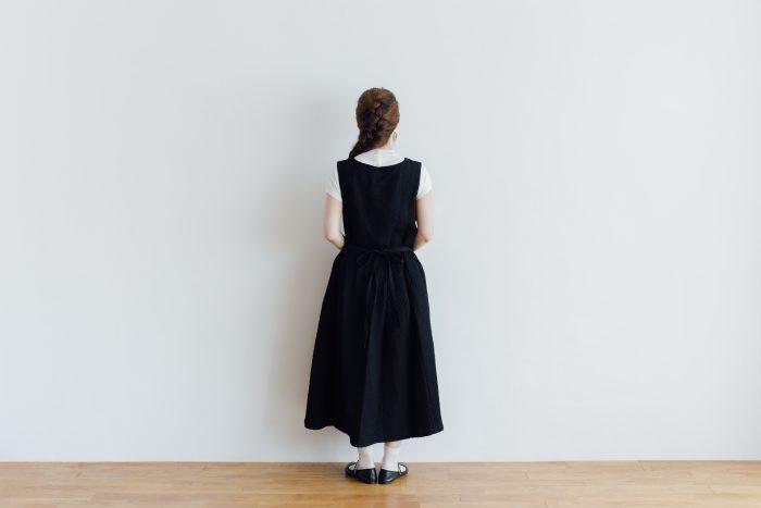 MATELASSE CROSS OVER DRESS black 3