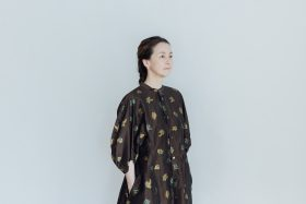 MIMOZA PUFF SLEEVE DRESS brown 4