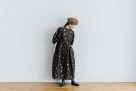 MIMOZA PUFF SLEEVE DRESS brown 5