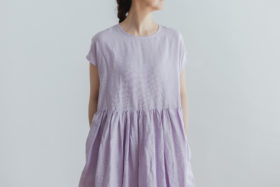 予約 FRENCH SLEEVE ONE-PIECE labender 4