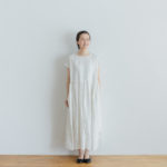 予約 FRENCH SLEEVE ONE-PIECE white