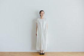 予約 FRENCH SLEEVE ONE-PIECE white 1