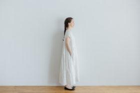 予約 FRENCH SLEEVE ONE-PIECE white 2