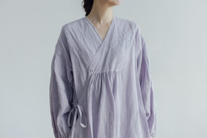 Embroidery DRESS  lavender 4