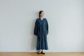 Embroidery DRESS  navy 1