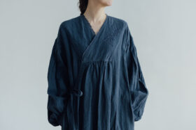 Embroidery DRESS  navy 4