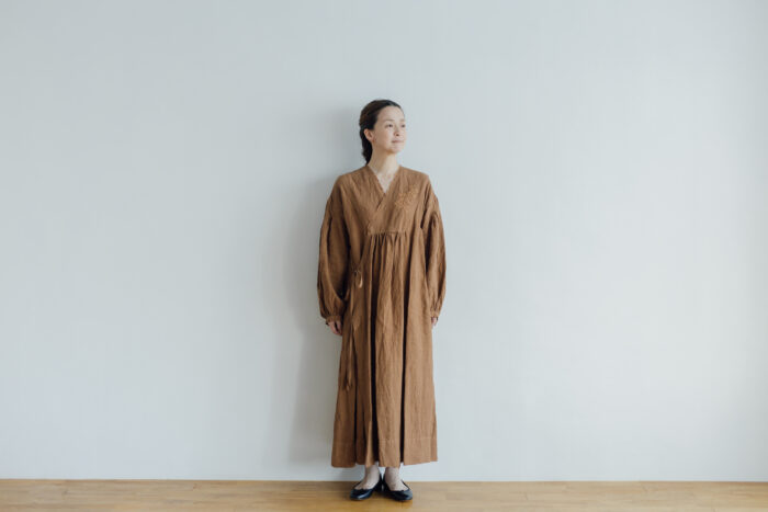 Embroidery DRESS  brown 1